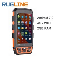 5 Android 7.0 Mobile Data Collector 2*PSAM 1*SIM Wifi 4G Bluetooth NFC Handheld UHF RFID Reader 1D 2D Laser Barcode Scanner