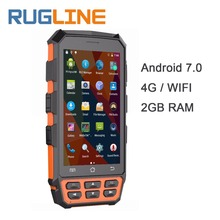 5″ Android 7.0 Mobile Data Collector 2*PSAM 1*SIM Wifi 4G Bluetooth NFC Handheld UHF RFID Reader 1D 2D Laser Barcode Scanner