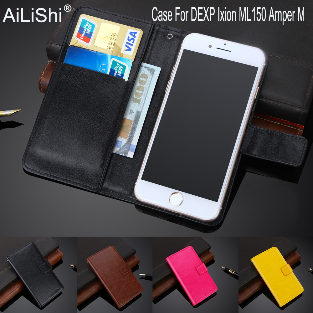 AiLiShi 100% Exclusive <font><b>Case</b></font> <font><b>For</b></font> <font><b>DEXP</b></font> <font><b>Ixion</b></font> <font><b>ML150</b></font> Amper M Leather <font><b>Case</b></font> Flip Top Quality Cover Phone Bag Wallet Holder + Tracking image