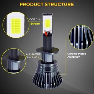 Image 2 - Ampoules anti brouillard de voiture, Flash LED stroboscopique, 12V H1 H11 H8 H7 H3 9005 9006 HB3 HB4 880 881, LED COB, blanc, jaune, bleu, 2 pièces