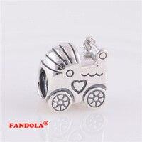 Fits Pandora Charms Bracelet Bé Vận Chuyển Vít Đề Charm Hạt Authentic 925 Sterling Silver Bạc Trang Sức Bán Buôn LW242