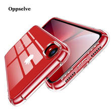 Oppselve Luxury Case For iPhone X 10 Capinhas Ultra Thin Anti-knock Clear Soft TPU Silicone Cover iPhoneX Coque Fundas