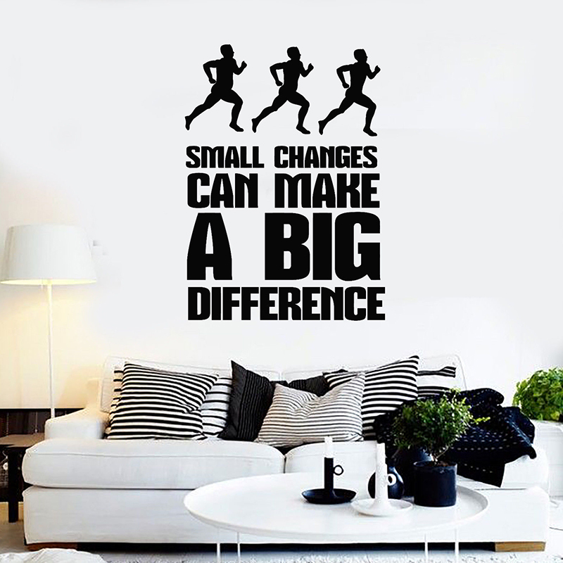 Inspiration Quote Wall Decals Fitness Motivation Wall Stickers For Gym Exercise Stickers ...