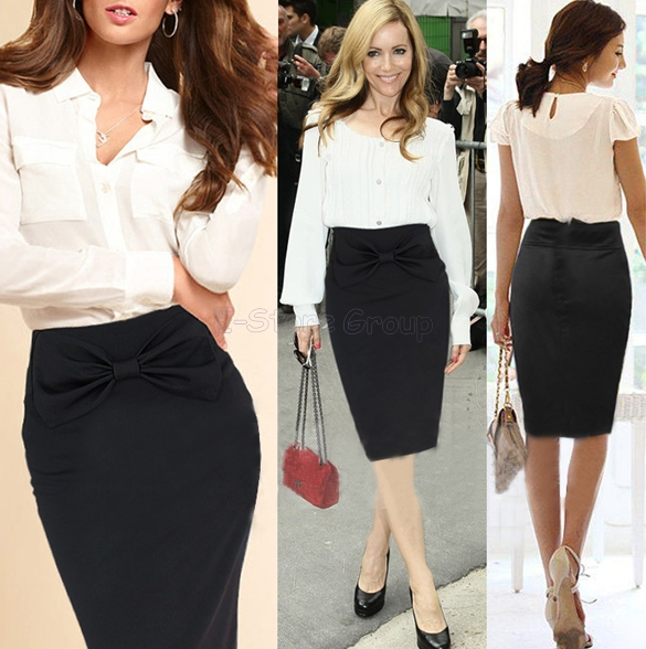 Women Work Wear 2014 New Fashion OL High Waist Slim Hip Pencil ...