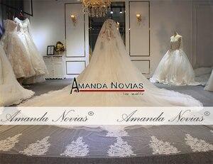 Image 4 - 2019 designer glanzend trouwjurk voile mariage