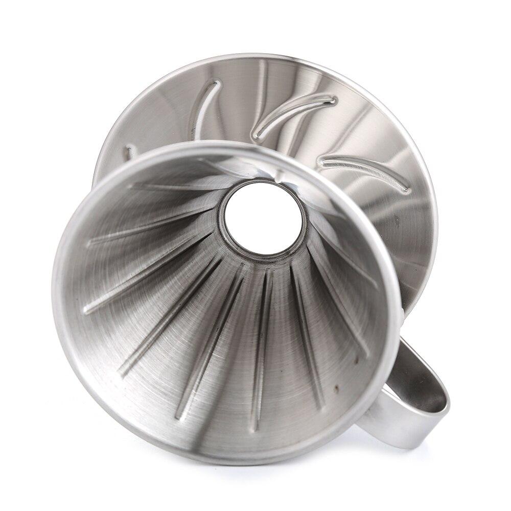 Realand нержавеющая сталь Clever Pour Over Coffee Dripper Brewer Cone Filter кофеварка с идеальной подставкой