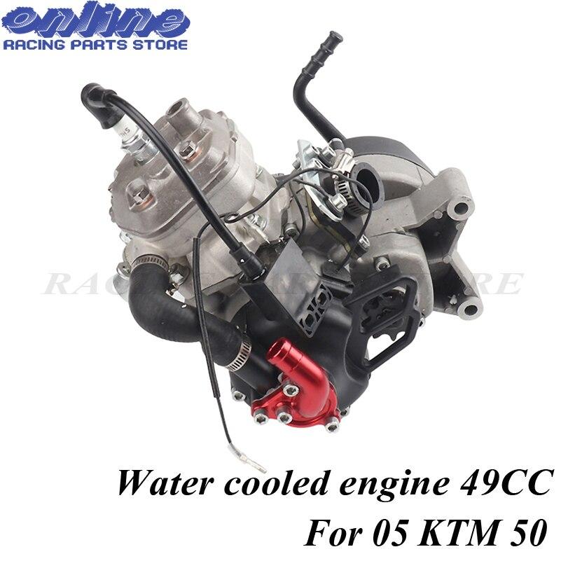 שני שבץ מים מקורר מנוע 47CC 49CC עבור 05 KTM 50 JR SX 50 SX פרו בכיר מיני טרקטורונים עפר בור צלב אופניים