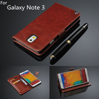 For Fundas Samsung Note 3 Card Holder Cover Case For Samsung Galaxy Note 3 N9000 Leather