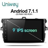 Akll9071 uniway Android 7.1 автомобильный DVD для TOYOTA COROLLA 2008 2007 2009 2010 2011 радио в машине gps-плеер головное устройство