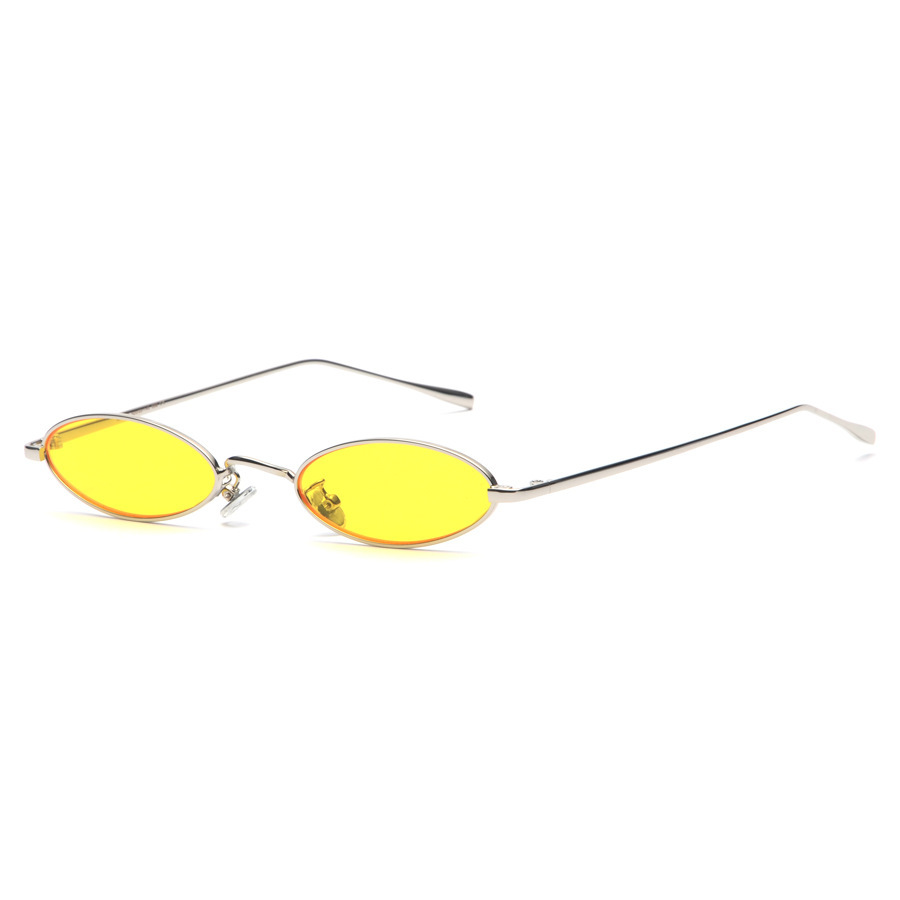 2018 kleine ovale zonnebril voor mannen mannelijk retro metalen frame - Kledingaccessoires - Foto 4