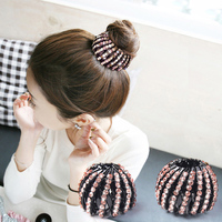 South Korea Jewelry Female Ball Head Clip Buckle Hairpin Nest Hair Ring Plate Catch Clip