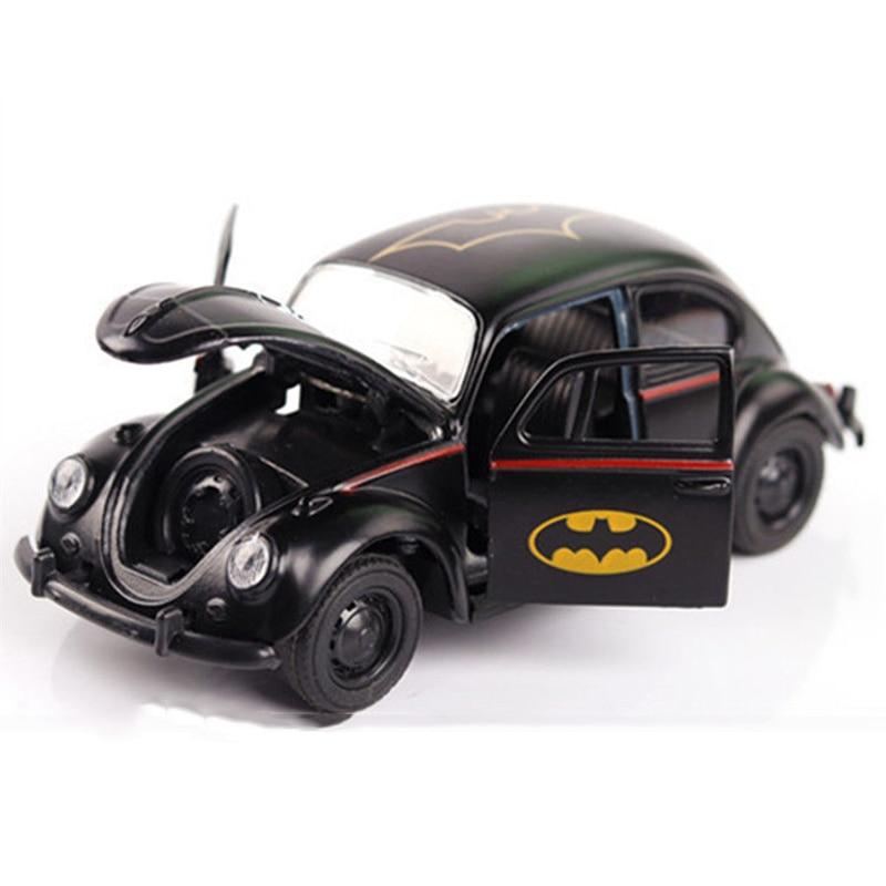 With Box 1 32 Scale Batman Diecast Car Model Black Beetle Classic