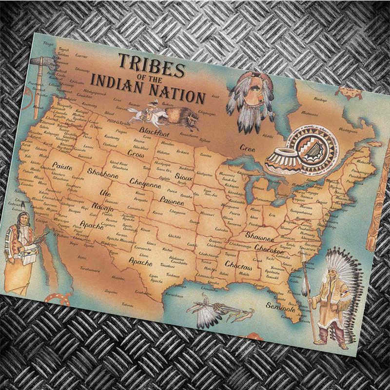 Amrica Mapa Vintage Impresin Del Cartel Eeuu Clsico Coche