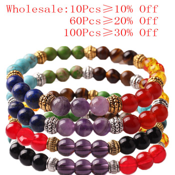 CAMDOE DANLE 7 Chakra Stone Bracelet Natural Beads Healing Reiki Prayer Buddha Beads Bracelet Men Charms Yoga Bracelet For Women 3