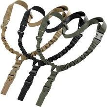 Militar táctico USA un solo punto arma de juguete Sling cuerda elástica ajustable Rifle Sling Sistema de Correa para caza Airsoft