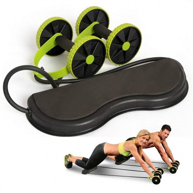 Ab Roller Wheel Abdominal Trainer Wheel Arm Waist Leg Exercise Multi-functional Fitness Equipment Exercise