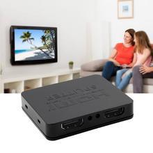 цена на HDCP 4 K Splitter HDMI Full HD 1080 p Video Switch HDMI Switcher 1X2 Split 1 in 2 Out Amplificatore Dual Display Per HDTV DVD PS