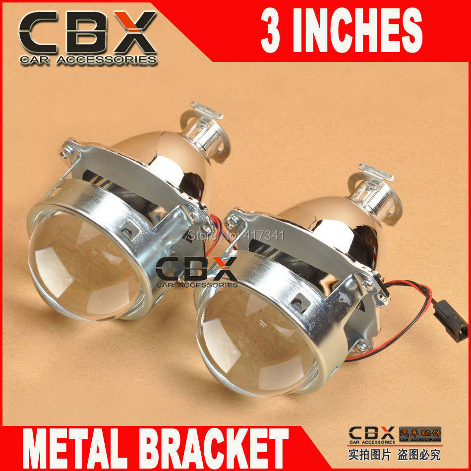 3 inches bi-xenon projector lens metal bracket