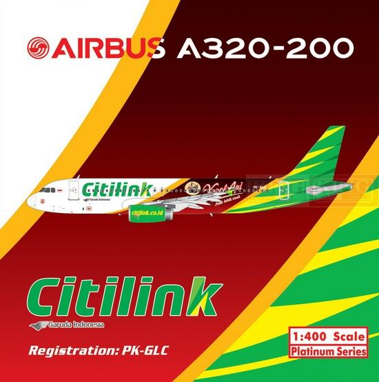 Pre sale: Citilink 11227 A320 PK-GLC Phoenix Kapal Api 1:400 commercial jetliners plane model hobby a13036 apollo indonesia aviation pk gsh 1 400 commercial jetliners plane model hobby b747 400