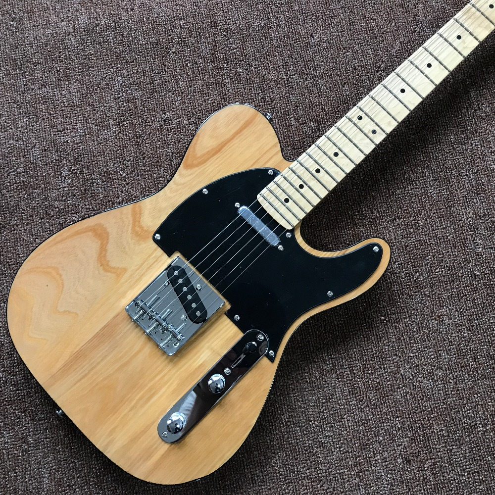 Factory direct TELE telecaster Electric Guitar 6 Strings chrome hardware Guitar elm Natural wood color Electric Guitar classical guitar strings set 6 string classic guitar clear nylon strings silver plated copper alloy wound alice a108