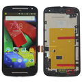 Черный Для Motorola Moto G2 XT1063 XT1064 XT1068 ЖК-Дисплей С Сенсорным Экраном Дигитайзер Ассамблеи + Рамка Бесплатная Доставка + Трек Номер