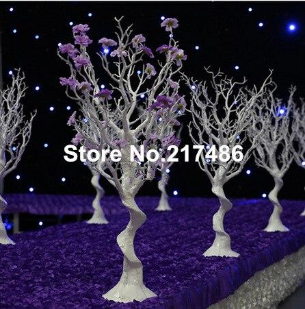 (Sin La Flor Y Perla) Blanco Artificial Invierno árboles Secos Pieza  Central Para La Decoración De La Boda En Glow Party Supplies De Hogar Y  Jardín En ...