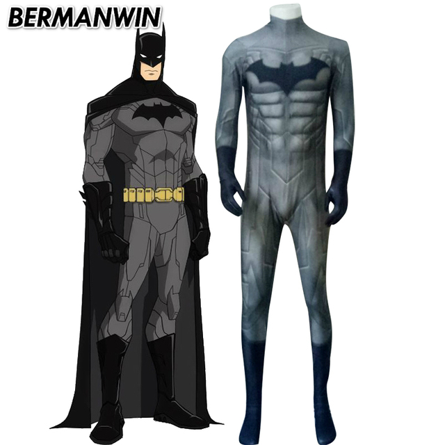 BERMANWIN High Quality New 52 Batman costume Adult Men Spandex Lycra suit with muscle Halloween Cosplay  sc 1 st  AliExpress.com & BERMANWIN High Quality New 52 Batman costume Adult Men Spandex Lycra ...