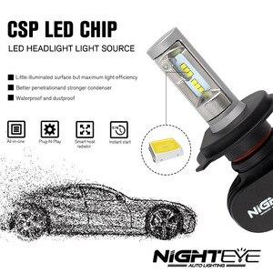 Image 5 - Nighteye 8000LM H4 9003 HB2 車の led ヘッドライトキット電球を交換ランプの hi/lo ビーム車の led ヘッドライト電球