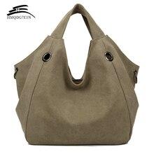 Акция 100%, Женская однотонная сумка через плечо contton, модные повседневные холщовые сумки Хобо, высококачественные вместительные сумки тоут