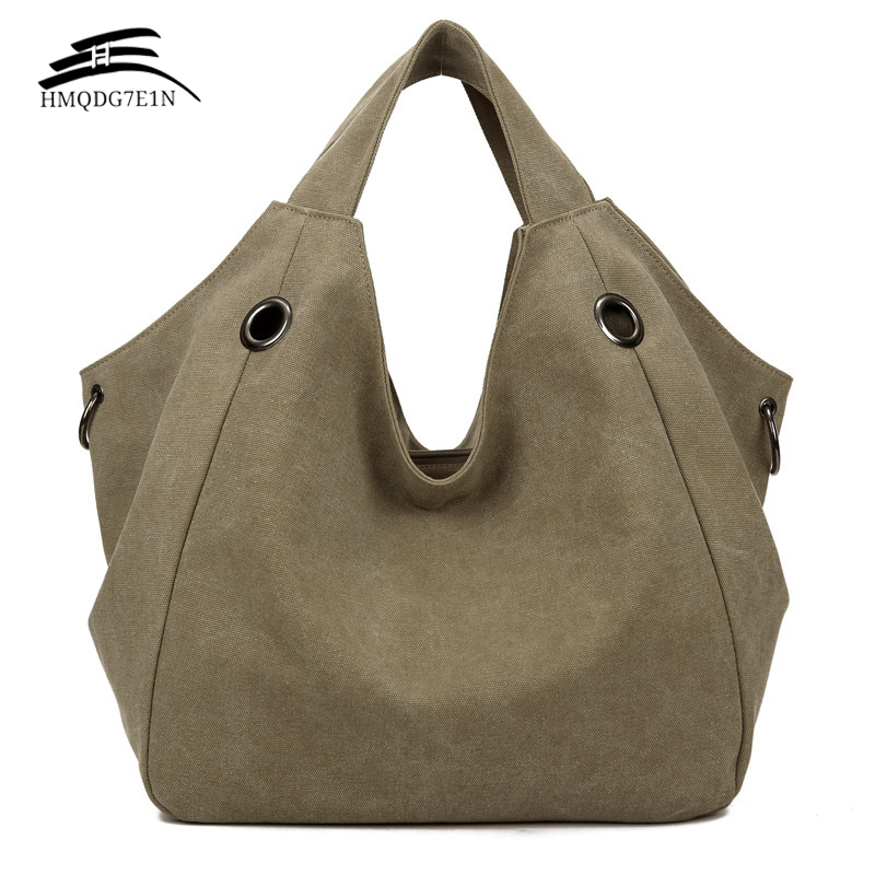 Promotin 100% contton Donne Solid Shoulder Bag Fashion Casual Canvas Hobos Handbags Borse Tote di grande capacità di alta qualità