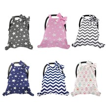 Baby Car Seat Canopy Cover Cotton Infant Children Stripes Stars Car seat Cover(China)