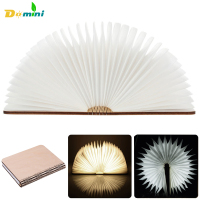 Foldable LED Book Lights USB Rechargeable 3color Wooden Nightlight Booklights Use Book For Decor Desk Table