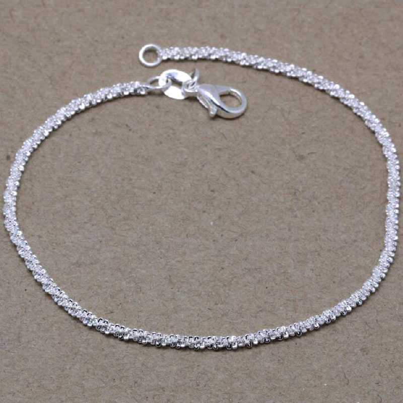 Classic Beautiful 925 Sterling Silver Rope Bracelet Female Models ...