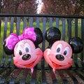 O envio gratuito de 10 pçs/lote Minnie e mickey mouse Alumium Foil balões para festa de aniversário de casamento decorações da festa de crianças