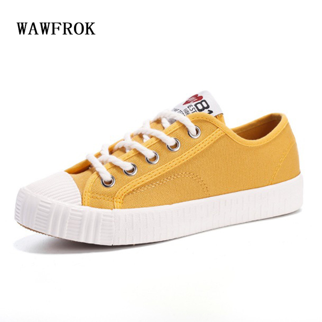2017 Fashion Women Canvas Shoes Casual Vulcanization Shoes Breathable Brand Women Flats  Lace Up Solid Color Casual Shoes