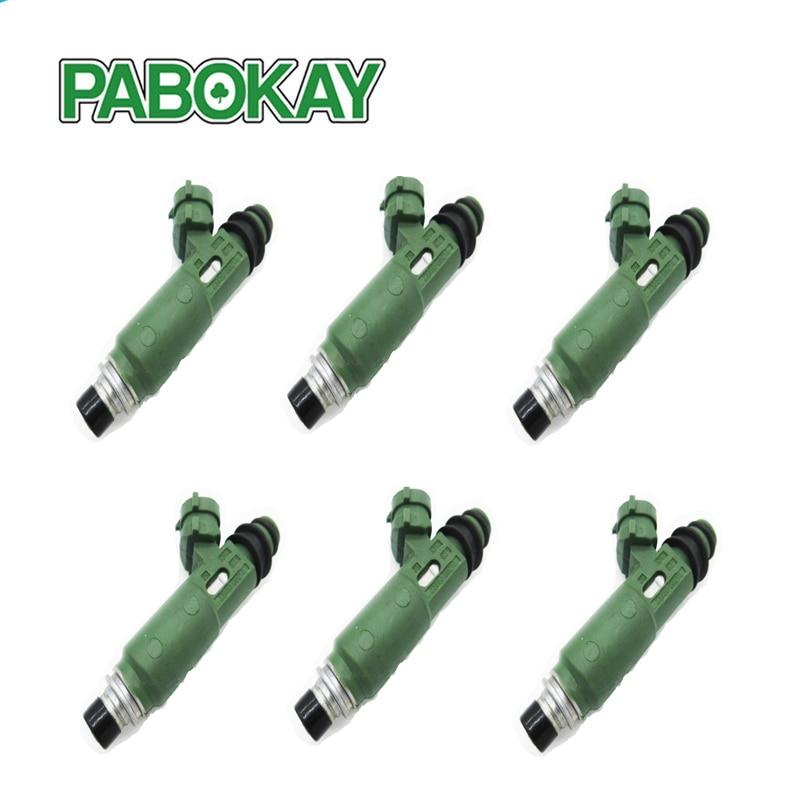 6 pieces x Fuel injectors for TOYOTA 1FZ FE LANDCRUISER FZJ78 79 105 23209 66010 LEXUS