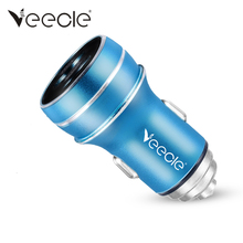 Veecle Mini Safety Hammer Car Charger 2 USB Port 2 Way Car Cigarette Lighter Power Adapter