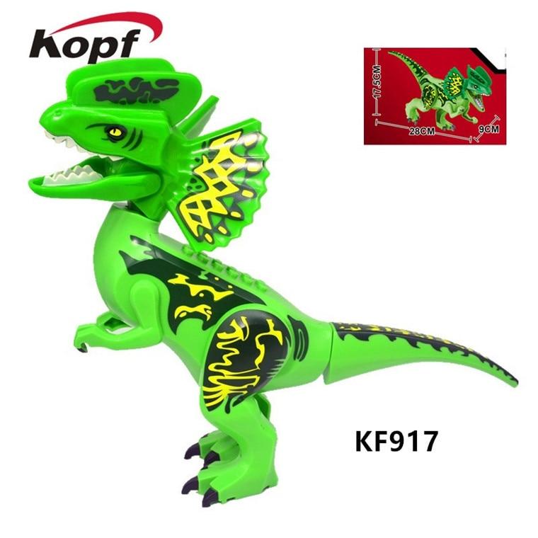 KF917 World Garden Series Jurassic Bricks Tyrannosaurus Rex Dinosaur Figures Building Blocks For Collection Children Toys Gift