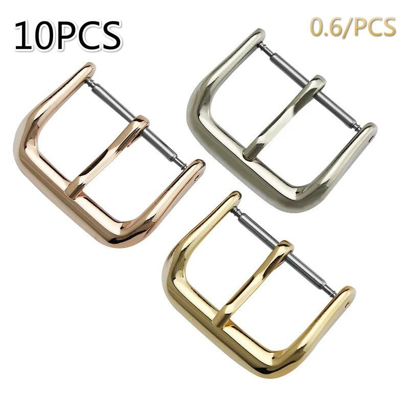 10 Pcs Uhr Pin Schnalle Uhrenarmbänder Ersatz Silber Schwarz Rose Gold Zubehör 8mm 10mm 12mm 14mm 16mm 18mm 20mm 22mm