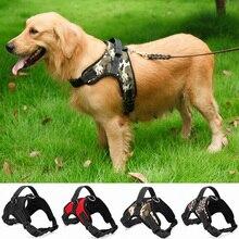 Arnés de nailon para perros de alta resistencia, ajustable, acolchado, Extra grande, grandes, medianos y pequeños, arneses para chaleco, suministros para perros Husky
