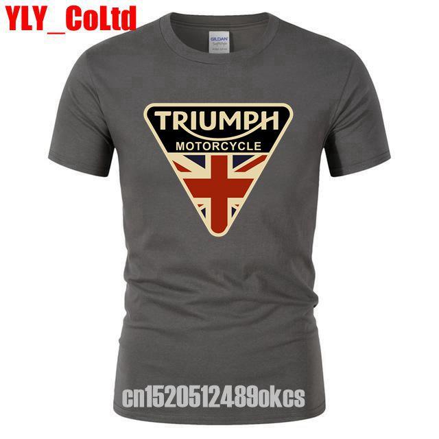 2019 Craked איחוד ג 'ק טריומף אופנוע TShirt בריטניה דגל בגדי גברים חולצה גברים של בציר טי חולצות למותג מתנות גברים חולצות T