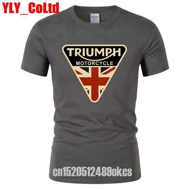 2019 Craked Triumph Motocicleta TShirt REINO UNIDO Bandeira Union Jack Camisa Dos Homens T de Roupas Tops Da Marca dos homens T Do Vintage Presentes camisas dos homens T