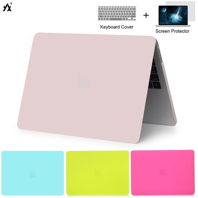Clear Transparent Crystal Laptop Case For Apple Macbook Air Pro Retina 11 12 13 15 Cover For Macbook New Air 13 A1932 2018 case