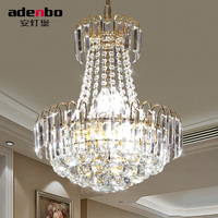 Modern LED Pendant Lights With K9 Crystal And Gold Color For Dining Room And Bedroom Lighting