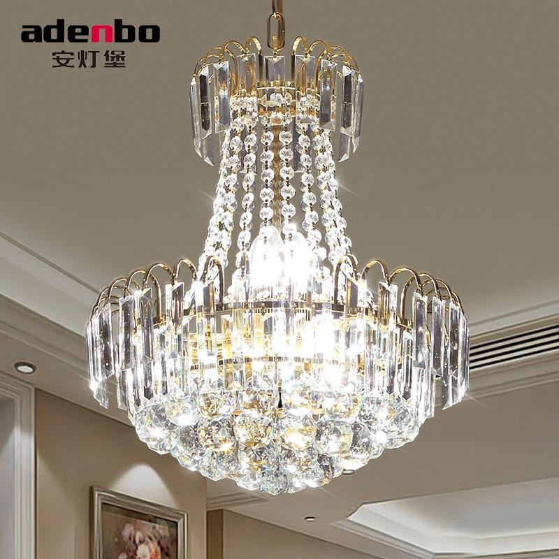 Modern Gold LED Crystal Chandeliers Lighting Fixtures 40cm 60cm 80cm 100cm  For Dining Room And Bedroom Lighting (ADB926)