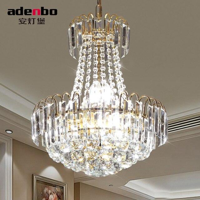 Moderne Gold FÜHRTE Kristall Kronleuchter Leuchten 40 Cm 60 Cm 80 Cm 100 Cm  Für Esszimmer