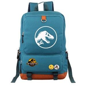 Image 4 - Multicolorido jurássico dinossauro crânio esqueleto menino menina saco de escola mulheres bagpack adolescentes mochilas lona mochila estudante