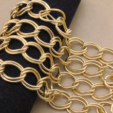 LOULEUR 1meter/lot 16*22*2 Gold Color Hip Hop Link Chain Mens Chunky for Necklace Bracelet Chains Jewelry Findings Making