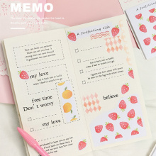 Get more info on the 4pcs Cute Fruit sticky note set Strawberry Apple post memo pad stickers planner book marker it Stationery Office School F647