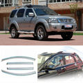 4pcs Smoked Clear Window Vent Shade Visor Wind Deflectors For Nissan Paladin